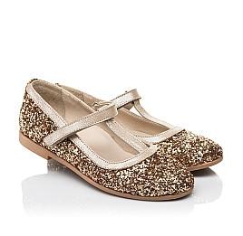 Детские туфли Woopy Fashion золотые для девочек современный искусственный материал размер 28-36 (7196) Фото 1