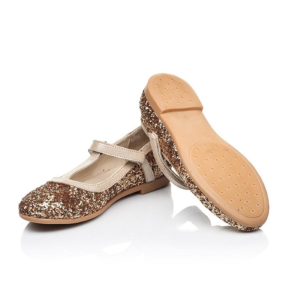Детские туфли Woopy Fashion золотые для девочек современный искусственный материал размер 28-36 (7196) Фото 2