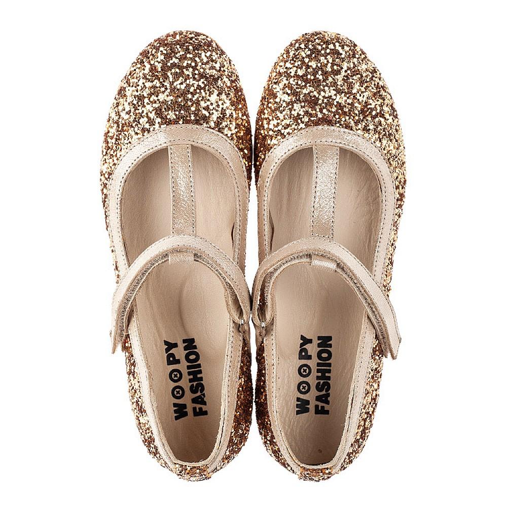 Детские туфли Woopy Fashion золотые для девочек современный искусственный материал размер 28-36 (7196) Фото 5