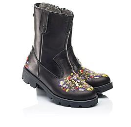 Детские зимние сапоги на меху Woopy Fashion черные для девочек натуральная кожа размер 31-39 (7197) Фото 1