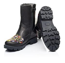 Детские зимние сапоги на меху Woopy Fashion черные для девочек натуральная кожа размер 31-39 (7197) Фото 2