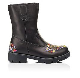 Детские зимние сапоги на меху Woopy Fashion черные для девочек натуральная кожа размер 31-39 (7197) Фото 4