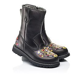 Детские зимние сапоги на меху Woopy Orthopedic черные для девочек натуральная кожа размер 27-30 (7198) Фото 1