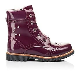 Детские демисезонные ботинки Woopy Orthopedic малиновые для девочек натуральная лаковая кожа размер 28-38 (7199) Фото 4