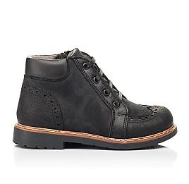 Детские демисезонные ботинки Woopy Orthopedic черные для мальчиков натуральный нубук размер 24-36 (7200) Фото 4