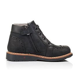 Детские демисезонные ботинки Woopy Orthopedic черные для мальчиков натуральный нубук размер 24-36 (7200) Фото 5