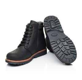Детские демисезонные ботинки Woopy Orthopedic черные для девочек натуральный нубук размер 31-40 (7201) Фото 2