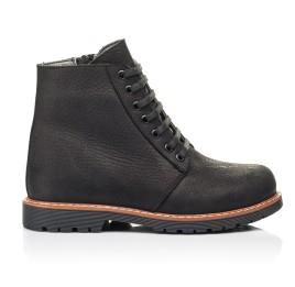 Детские демисезонные ботинки Woopy Orthopedic черные для девочек натуральный нубук размер 31-40 (7201) Фото 4