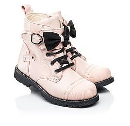 Детские зимние ботинки на шерсти Woopy Orthopedic бежевые для девочек натуральная кожа размер 26-26 (7202) Фото 1