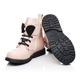 Детские зимние ботинки на шерсти Woopy Orthopedic бежевые для девочек натуральная кожа размер 26-26 (7202) Фото 2
