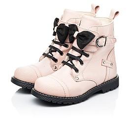 Детские зимние ботинки на шерсти Woopy Orthopedic бежевые для девочек натуральная кожа размер 26-26 (7202) Фото 3