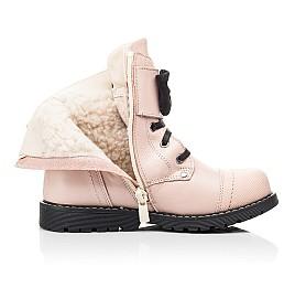 Детские зимние ботинки на шерсти Woopy Orthopedic бежевые для девочек натуральная кожа размер 26-26 (7202) Фото 5