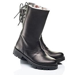 Детские зимние сапоги на меху Woopy Fashion черные для девочек натуральная кожа размер 33-39 (7203) Фото 1