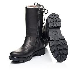 Детские зимние сапоги на меху Woopy Fashion черные для девочек натуральная кожа размер 33-39 (7203) Фото 2