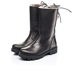 Детские зимние сапоги на меху Woopy Fashion черные для девочек натуральная кожа размер 33-39 (7203) Фото 3