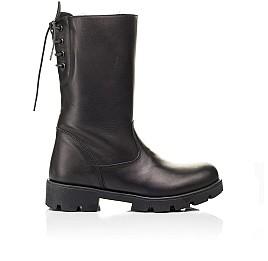 Детские зимние сапоги на меху Woopy Fashion черные для девочек натуральная кожа размер 33-39 (7203) Фото 4