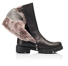 Детские зимние сапоги на меху Woopy Fashion черные для девочек натуральная кожа размер 33-39 (7203) Фото 5