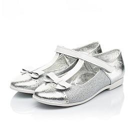 Детские туфли Woopy Fashion серебряные для девочек натуральная кожа, искусственный материал  размер 28-35 (7204) Фото 3