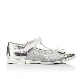 Детские туфли Woopy Fashion серебряные для девочек натуральная кожа, искусственный материал  размер 28-35 (7204) Фото 4