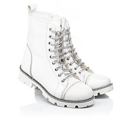Детские зимние ботинки на шерсти Woopy Fashion белые для девочек натуральная кожа размер 32-39 (7205) Фото 1