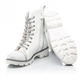 Детские зимние ботинки на шерсти Woopy Fashion белые для девочек натуральная кожа размер 32-39 (7205) Фото 2