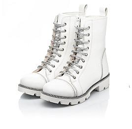 Детские зимние ботинки на шерсти Woopy Fashion белые для девочек натуральная кожа размер 32-39 (7205) Фото 3