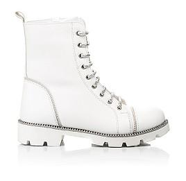 Детские зимние ботинки на шерсти Woopy Fashion белые для девочек натуральная кожа размер 32-39 (7205) Фото 4