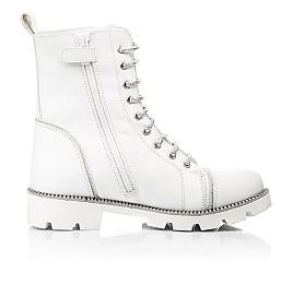 Детские зимние ботинки на шерсти Woopy Fashion белые для девочек натуральная кожа размер 32-39 (7205) Фото 5