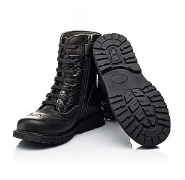 Детские демисезонные ботинки Woopy Orthopedic черные для девочек натуральная кожа размер 25-32 (7206) Фото 2