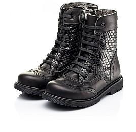 Детские демисезонные ботинки Woopy Orthopedic черные для девочек натуральная кожа размер 25-32 (7206) Фото 3