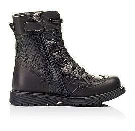 Детские демисезонные ботинки Woopy Orthopedic черные для девочек натуральная кожа размер 25-32 (7206) Фото 5