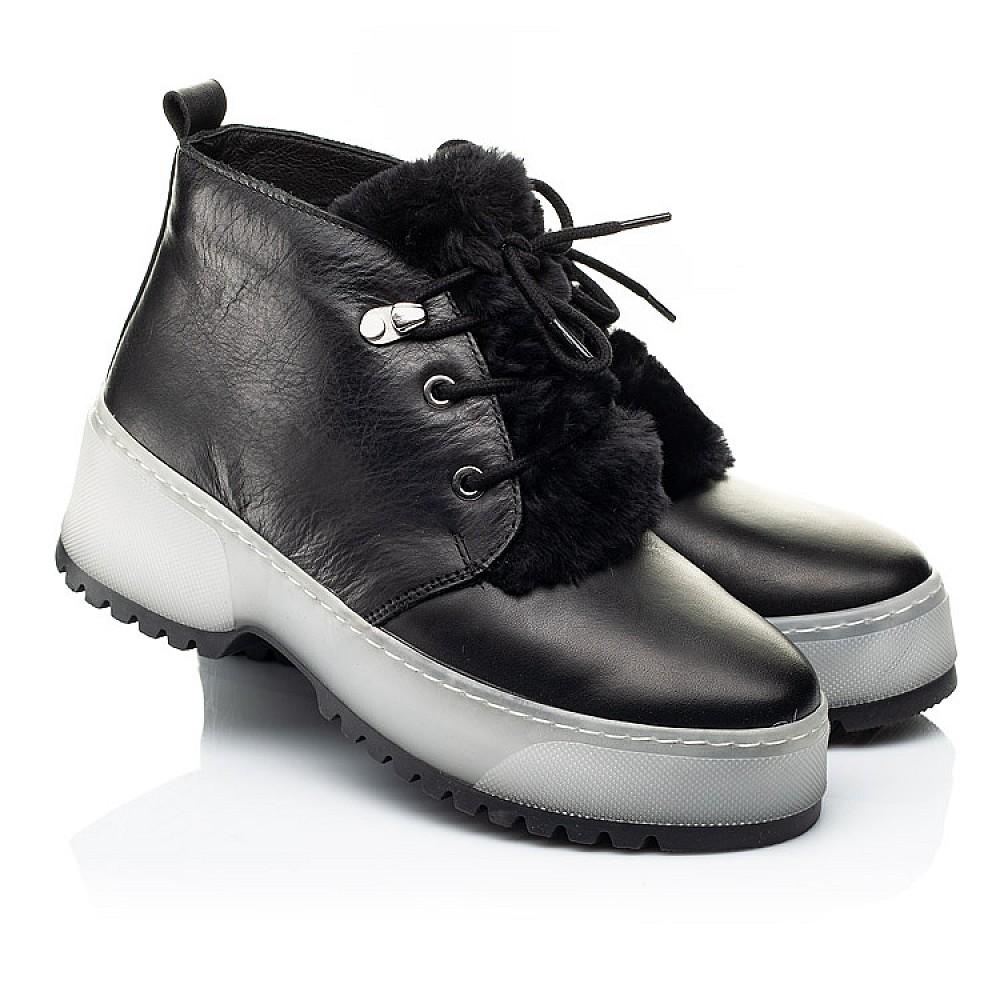 Детские зимние ботинки на меху Woopy Fashion черные для девочек натуральная кожа размер 35-40 (7207) Фото 1