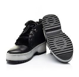 Детские зимние ботинки на меху Woopy Fashion черные для девочек натуральная кожа размер 35-40 (7207) Фото 2