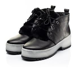 Детские зимние ботинки на меху Woopy Fashion черные для девочек натуральная кожа размер 35-40 (7207) Фото 3