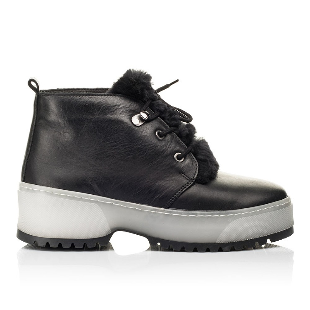 Детские зимние ботинки на меху Woopy Fashion черные для девочек натуральная кожа размер 35-40 (7207) Фото 4