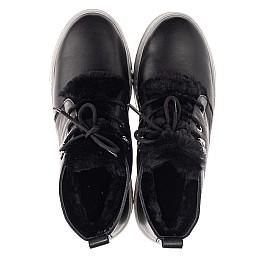 Детские зимние ботинки на меху Woopy Fashion черные для девочек натуральная кожа размер 35-40 (7207) Фото 5