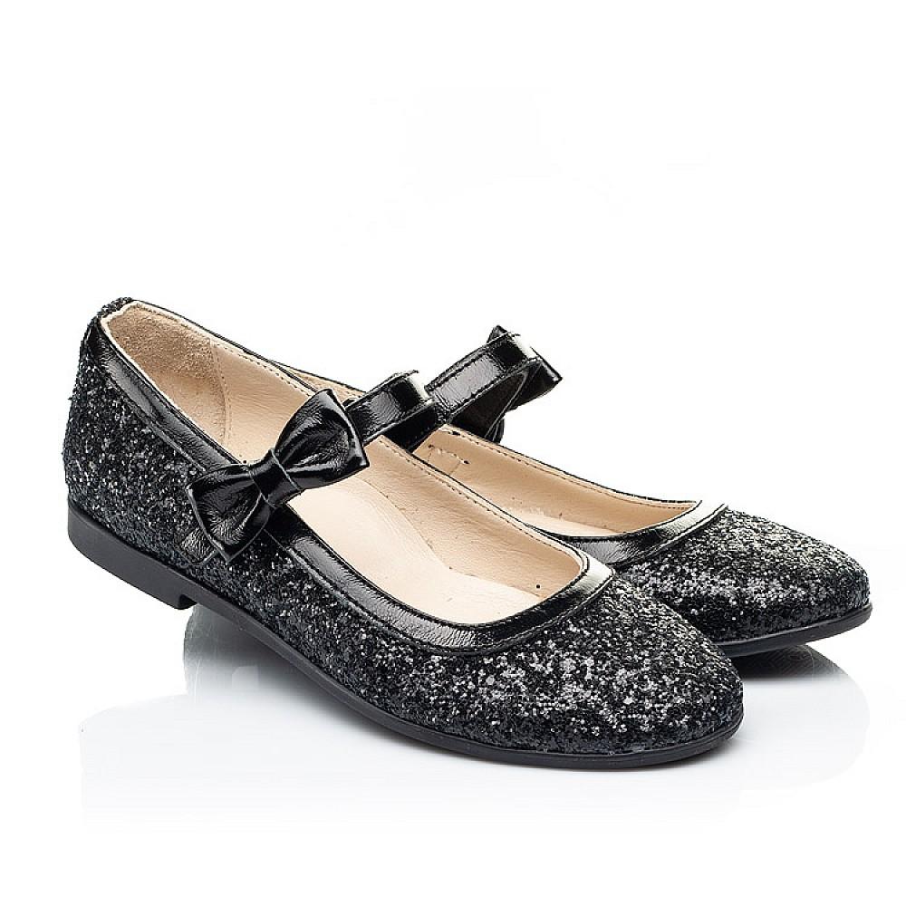 Детские туфли Woopy Fashion черные для девочек современный искусственный материал размер 29-37 (7208) Фото 1