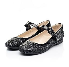 Детские туфли Woopy Fashion черные для девочек современный искусственный материал размер 29-37 (7208) Фото 3