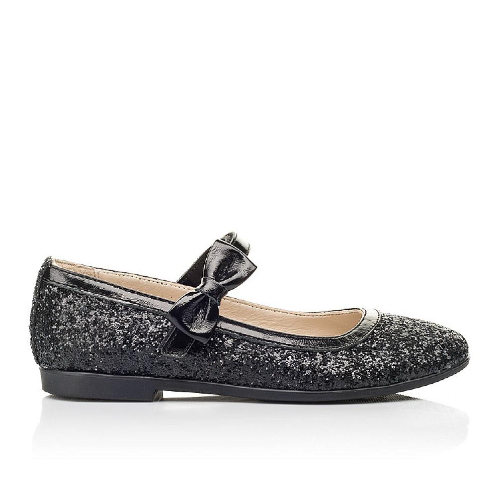 Детские туфли Woopy Fashion черные для девочек современный искусственный материал размер 29-37 (7208) Фото 4