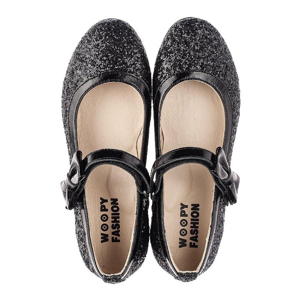Детские туфли Woopy Fashion черные для девочек современный искусственный материал размер 29-37 (7208) Фото 5