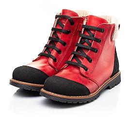 Детские демисезонные ботинки Woopy Orthopedic красные для девочек натуральная кожа размер 23-37 (7209) Фото 3
