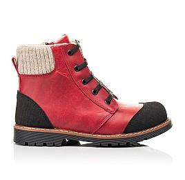 Детские демисезонные ботинки Woopy Orthopedic красные для девочек натуральная кожа размер 23-37 (7209) Фото 4