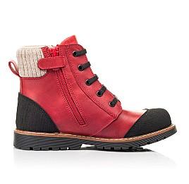 Детские демисезонные ботинки Woopy Orthopedic красные для девочек натуральная кожа размер 23-37 (7209) Фото 5