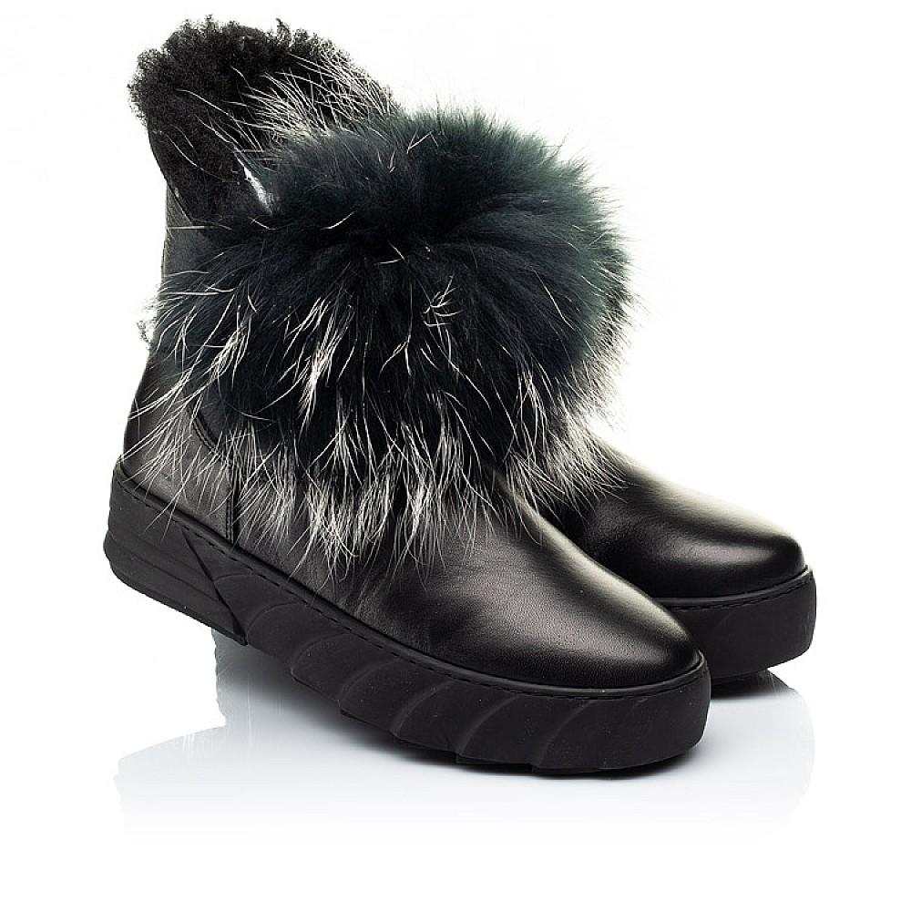 Детские зимние ботинки на меху Woopy Fashion черные для девочек натуральная кожа размер 32-40 (7210) Фото 1