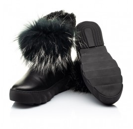 Детские зимние ботинки на меху Woopy Fashion черные для девочек натуральная кожа размер 32-40 (7210) Фото 2