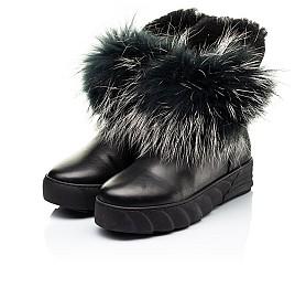 Детские зимние ботинки на меху Woopy Fashion черные для девочек натуральная кожа размер 32-40 (7210) Фото 3