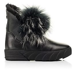 Детские зимние ботинки на меху Woopy Fashion черные для девочек натуральная кожа размер 32-40 (7210) Фото 4