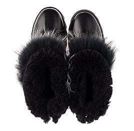 Детские зимние ботинки на меху Woopy Fashion черные для девочек натуральная кожа размер 32-40 (7210) Фото 5