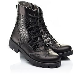 Детские демисезонные ботинки Woopy Fashion черные для девочек натуральная кожа размер 33-39 (7211) Фото 1