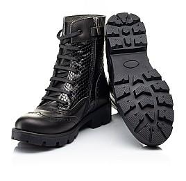 Детские демисезонные ботинки Woopy Fashion черные для девочек натуральная кожа размер 33-39 (7211) Фото 2